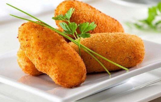 کروکت مرغ و پنیر